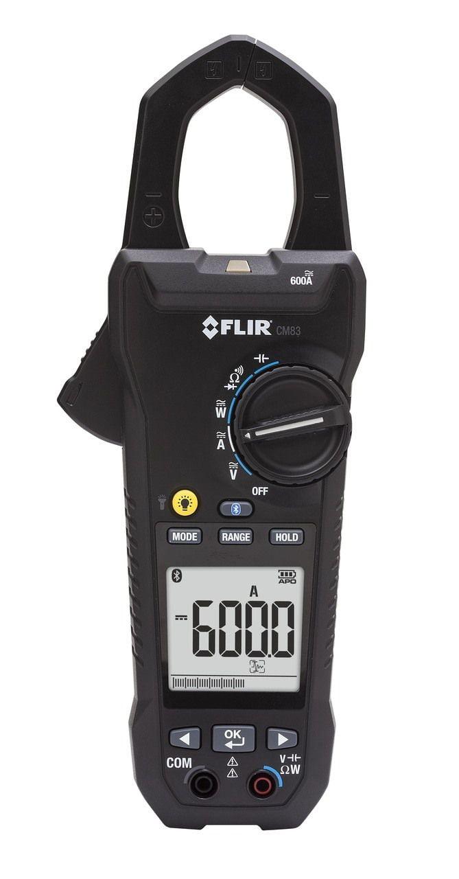Alicate Watt Trif CAT IV TRMS Fasímetro Bluetooth GARANTIA VITALÍCIA VFD, FP, NCV, INRUSH, HARMONICAS, THD Inrush FLIR CM-83