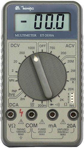Multímetro CAT II Minipa - ET-2030A