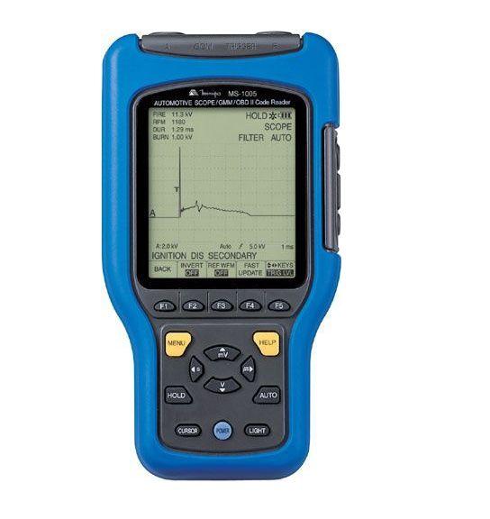 Osciloscópio 5MHz-25MS/s  Multímetro Gráfico Automotivo CAT II - USB  Minipa - MS-1005