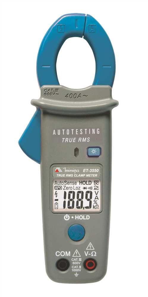 Alicate Amperímetro Automático True RMS - 400 ACA CAT III - Minipa - ET-3550