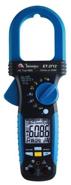 Alicate Amperimetro True RMS 1000 ACA, 2000 microACC com Amptip - Minipa - ET-3712   (PREVISÃO DE CHEGADA = 25/12/2021)