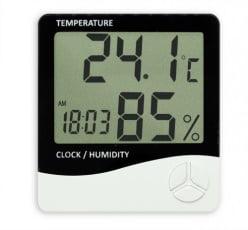 Termo-Higrômetro Relógio Máx/Mín (Temp. Int) - TH-01