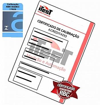 Certificado Calibração Paquímetro - ACREDITADO RBC
