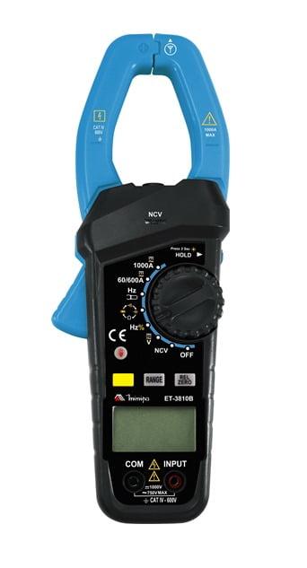 Alicate Amperímetro 1000ACA/CC - NCV - CAT IV Minipa - ET-3810B