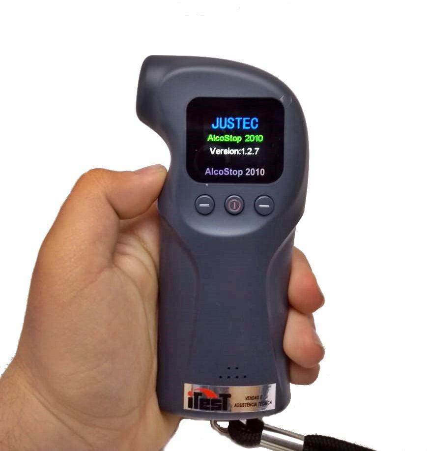 Bafômetro/Etilômetro c/ Data Logger - USB - Alcostop-2010
