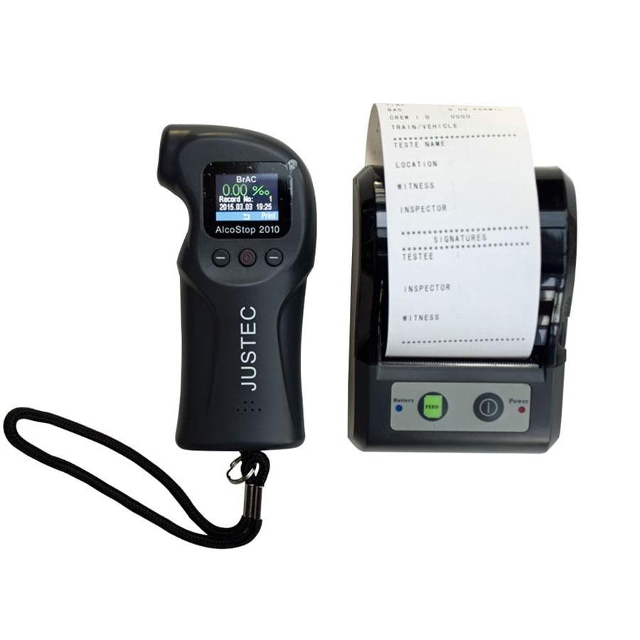 Bafômetro/Etilômetro c/ Data Logger - USB C/ Impressora - Alcostop-2010-I