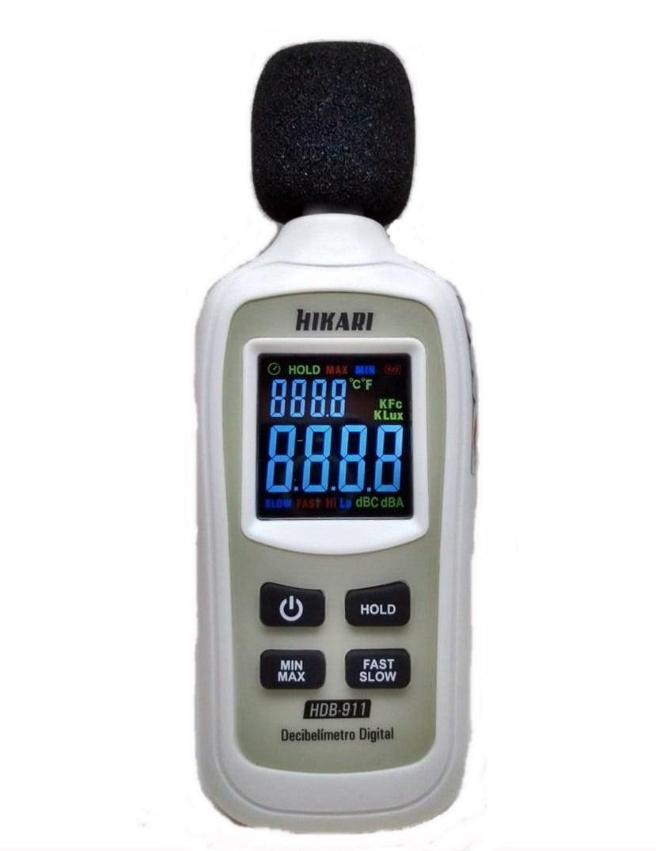 Mini Decibelímetro - Tipo 2 , Display Colorido - Hikari - HDB-911