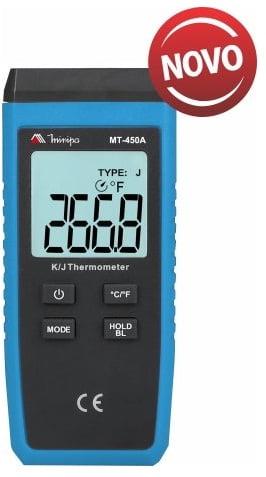TERMÔMETRO TIPO K/J (1x CANAL) MINIPA - MT-450A