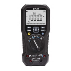 "Multímetro True RMS CAT IV Bluetooth Data Logger, VFD, LoZ, Led, Anti Queda ""Garantia Vitalícia limitada"" - Flir - DM93"