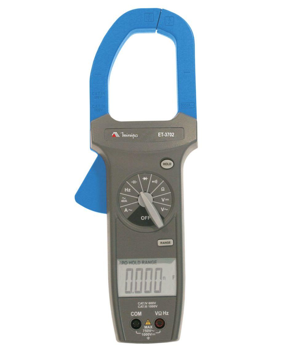 Alicate Amperímetro 1000ACA - True RMS - CAT IV - Minipa - ET-3702A (ENTREGA=05/04/2021)