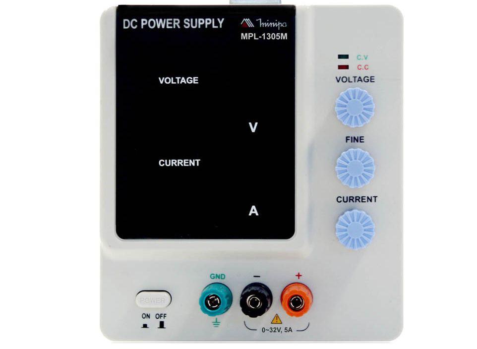 Fonte de Alimentação DC Assimétrica (30V/5A-simples) - Minipa - MPL-1305M   (PREVISÃO ENTREGA= 25/05/2021)