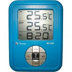 Termômetro-Relógio Máx/Mín (Int0+60ºC) (Ext-50+70ºC) - Minipa  MT-220