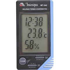 Termo-Higrômetro-Relógio Máx/Mín (Temp Int) Minipa - MT-242