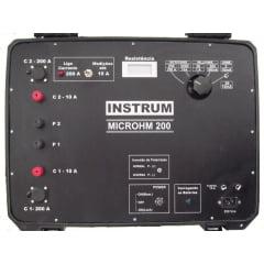 Micro-Ohmímetro 20 mohms/200A   Instrum    Microhm-200