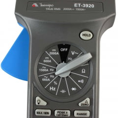 Alicate Amperímetro True RMS 1500ACA/ 2000A CC   CAT IV   Minipa  ET-3920
