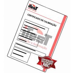 Certificado de Calibração para Explosímetro (1 Gás)