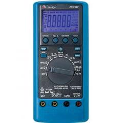Multímetro True RMS - CAT IV - USB - 4 5/6 díg - Filtro passa Baixa e Condutância - Minipa - ET-2587