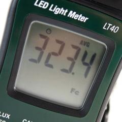 Luxímetro p/ LED branco 400.000 Lux (ATENDE NH0-11) Extech LT-40