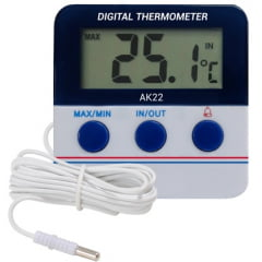 Termômetro Max/Min (Int/Ext) - c/ Alarme - c/ Imã - AK-22