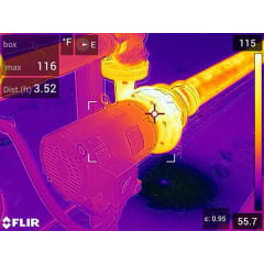Câmera Térmica 76.000 pixels c/ MSX e WIFI (-20°C a 650°C ) - Flir E-75
