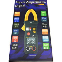 Mini Alicate Amperímetro 200 ACA - NCV - CAT III - SMART - AD-8010