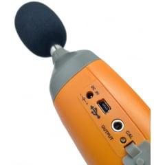 Decibelímetro Conf IEC 61672, Tipo 2 c/ Data Logger e saída USB e saída AC/DC - DL-4200