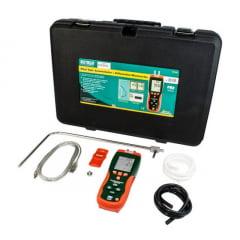 Anemômetro c/ Tubo Pitot e Manômetro Diferencial c/ Data Logger- Extech - HD-350