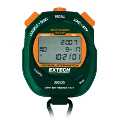 Cronômetro Resistente a Água, 500 memórias (1/100 s, 1/1000 min, 1/100.000 h) Extech - 365535