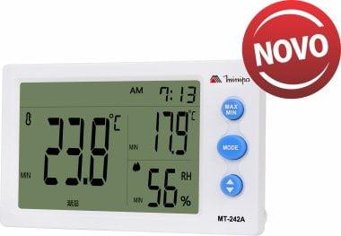 Termo-Higrômetro-Relógio Máx/Mín (Temp Int.) - Minipa - MT-242A