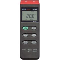Termômetro (2x Canais) c/ RS-232 - ICEL - TD-990